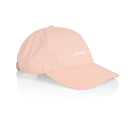 some-day cap ~ pink with white