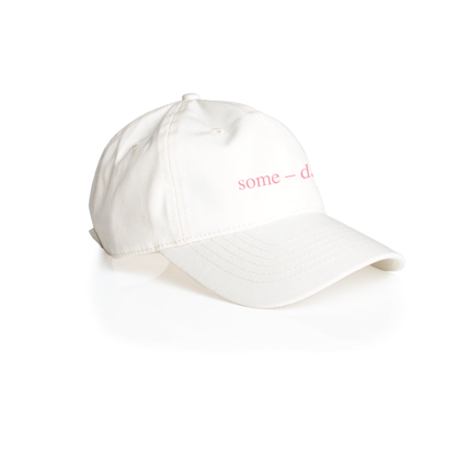 some-day cap ~ white with pink