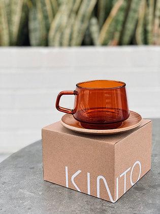 Kinto Sepia Cup & Saucer ~ 270ml/9oz