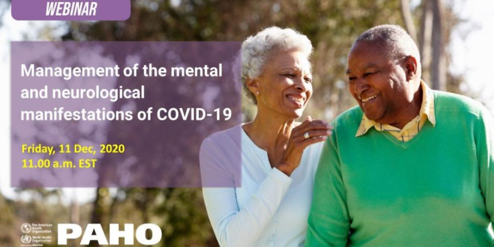 OPAS - Gestão das manifestações mentais e neurológicas de COVID-19
