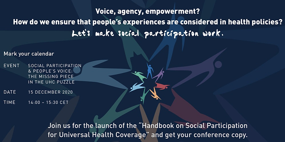 OMS - Lançamento do Manual de Participação Social