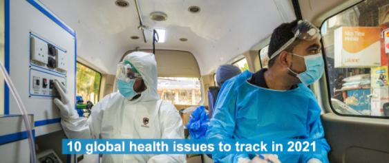 10 principais questões de saúde da OMS para 2021.