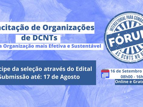 Aberto Edital para Capacitação de Organizações de DCNTs 2021 - prazo 17 de agosto