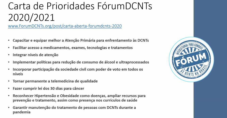 Carta de Prioridades FórumDCNTs.