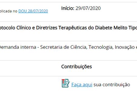 Consulta Pública PCDT Diabetes Tipo 2 - Posicionamento do FórumDCNTs