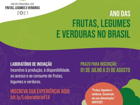 Laboratório de inovação sobre produção e consumo de frutas, legumes e verduras - inscrições até 31/8
