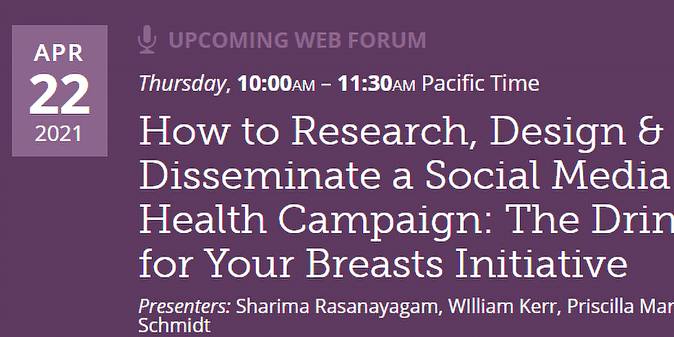Public Health Institute - Como projetar e divulgar uma campanha de saúde nas redes sociais