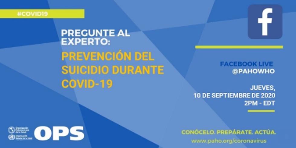 OPAS - Prevenção do suicídio durante a pandemia de COVID-19