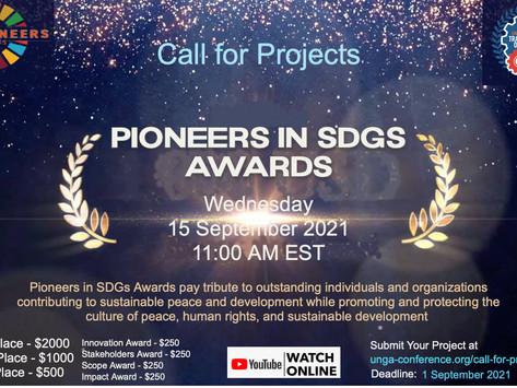 Premiação para projetos que contribuíram para o desenvolvimento sustentável - inscrições até 1/09/21