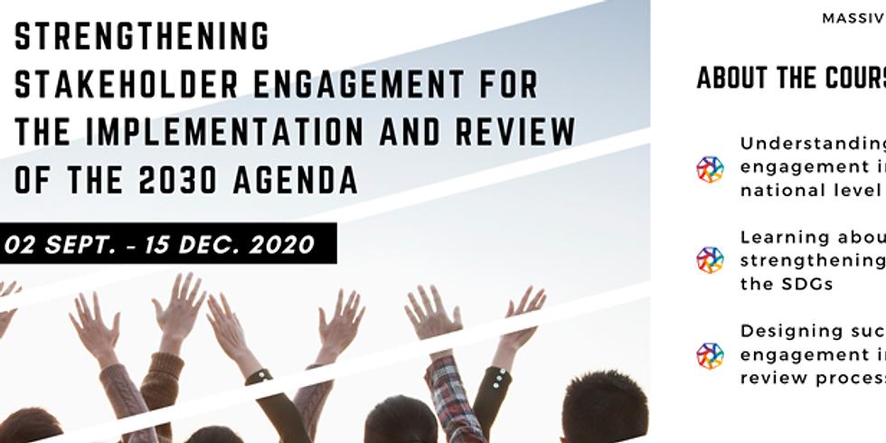 UNDESA - Curso fortalecendo o envolvimento na Agenda 2030