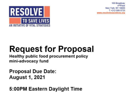 Edital Projetos de Advocacy para Alimentos Saudáveis - inscrições até 6/8/2021