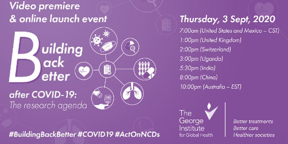 George Institute for Global Health - O impacto da COVID-19 na prevenção e gestão de DCNTs