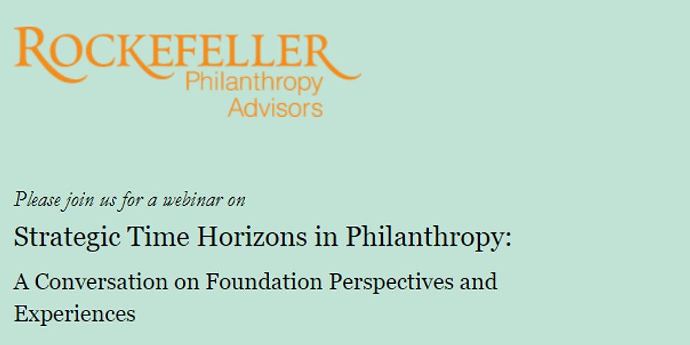 Rockefeller Philanthropy Advisors - Estratégias na Filantropia