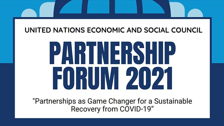 ONU - Fórum de Parceria 2021 do Conselho Econômico e Social