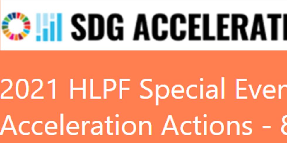 HLPF - Ações de aceleração das ODS