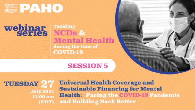 OPAS - Financiamento da saúde mental e a pandemia de COVID-19