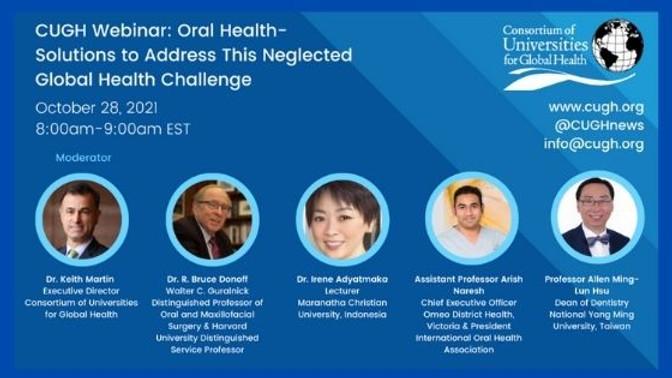 CUGH -  Saúde bucal: Soluções para enfrentar este desafio de saúde global negligenciado