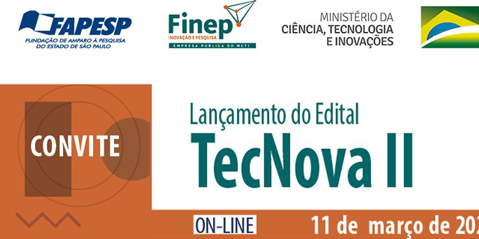 FAPESP - Lançamento do edital TecNova II