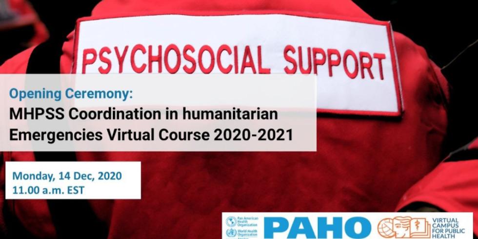 OPAS - Curso virtual de coordenação de saúde mental e apoio psicossocial