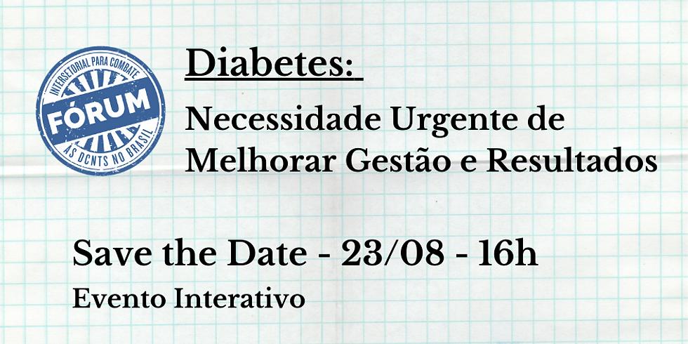 Diabetes: Necessidade Urgente de Melhorar Gestão e Resultados