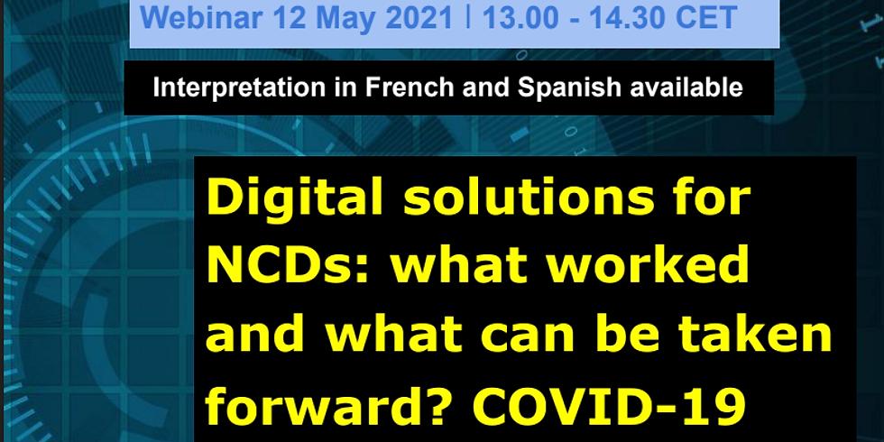 OMS - Soluções digitais para DCNTs: o que funcionou e o que pode ser levado após a pandemia?
