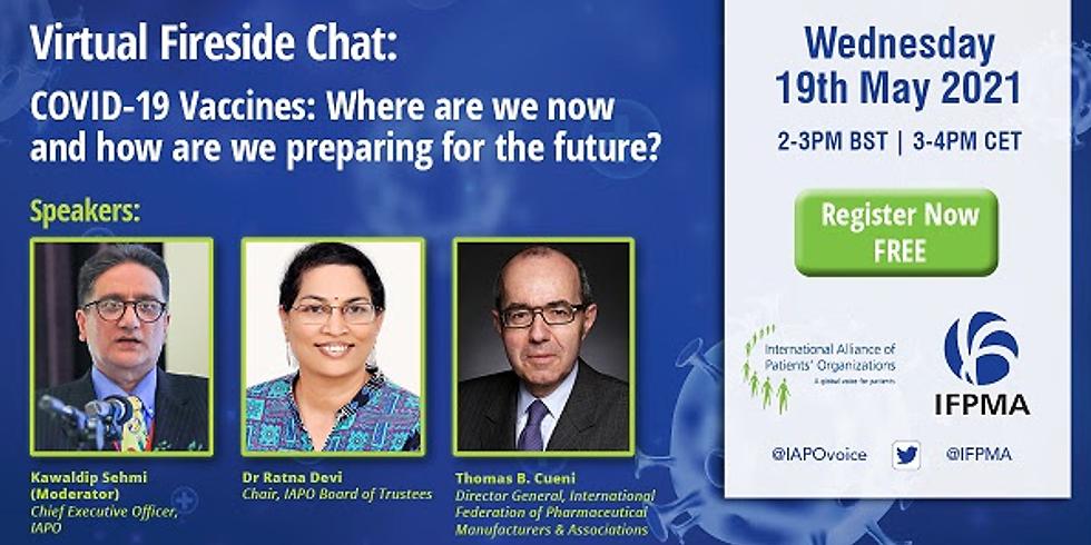 IAPO - Vacinação COVID-19: Onde estamos agora e como estamos nos preparando para o futuro?