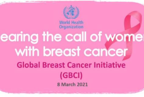 Organização Mundial da Saúde lança uma nova iniciativa global para o câncer de mama