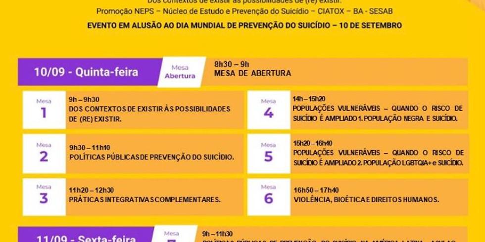 IV Fórum Baiano, II Fórum Brasileiro e I Fórum Internacional de prevenção ao suicídio