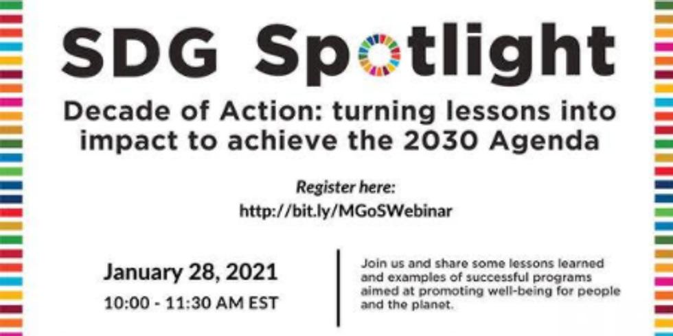 MGOS - Década de Ação: Transformando lições para alcançar a Agenda 2030