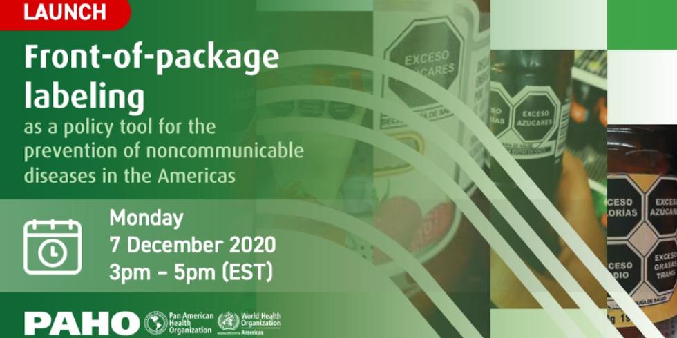 OPAS - Mudança nas embalagens como ferramenta para o combate às DCNTs nas Américas