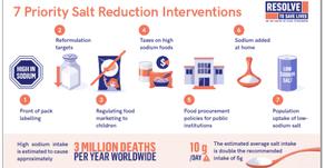 Resolve to Save Lives publica artigos enfatizando os benefícios da redução de sódio