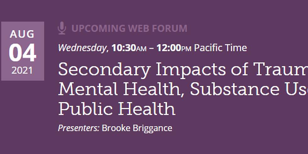 PHI - Impactos secundários do trauma: saúde mental, uso de substâncias e saúde pública