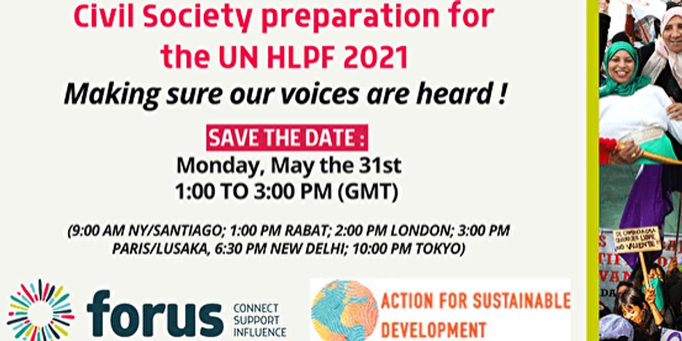 A4SD e Forus - Preparação para o HLPF 2021