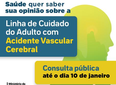 Ministério da Saúde abre Consulta Pública da Linha de Cuidado do Adulto com AVC, participe até 10/1
