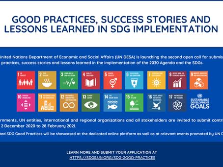 ONU: Convocatória para histórias de sucesso na implementação da Agenda 2030 - inscrições até 28/2/21