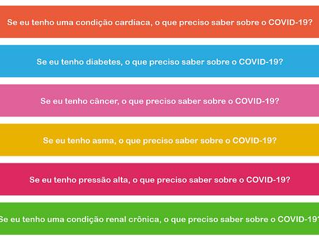 OPAS lança uma série de informativos: Se eu tenho uma DCNT, o que preciso saber sobre a COVID-19