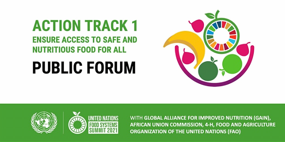 ONU - Fórum público de sistemas alimentares