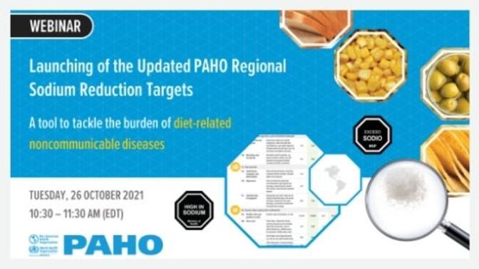 OPAS - Lançamento das Metas Regionais de Redução de Sódio da OPAS