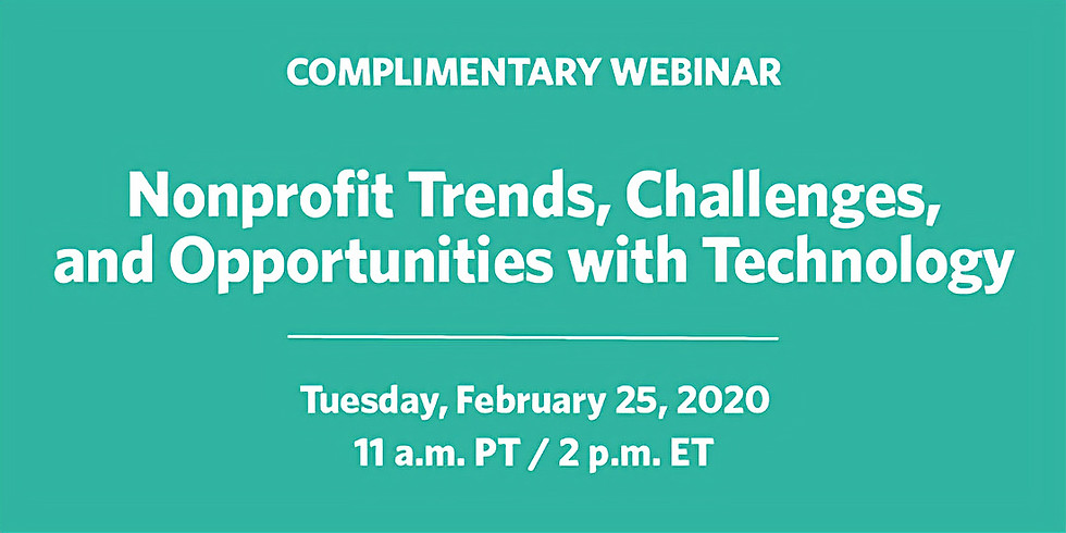 StanfordSOCIAL- Nonprofit Trends, Challenges, and Opportunities with Technology