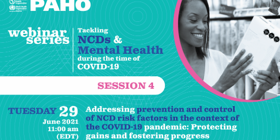 OPAS - Prevenção e o manejo dos fatores de risco de DCNTs no contexto da pandemia de COVID-19