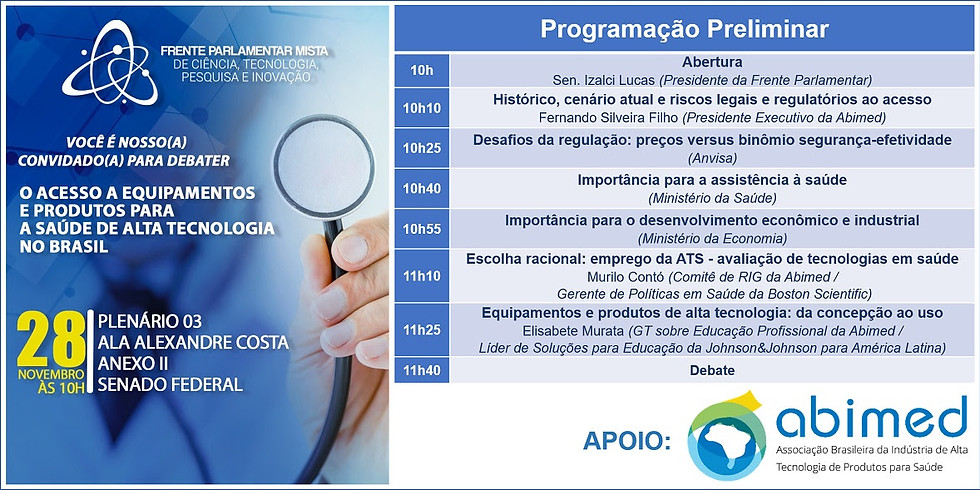 Debate ABIMED  - O Acesso a Equipamentos e Dispositivos Médicos de Alta Tecnologia no Brasil