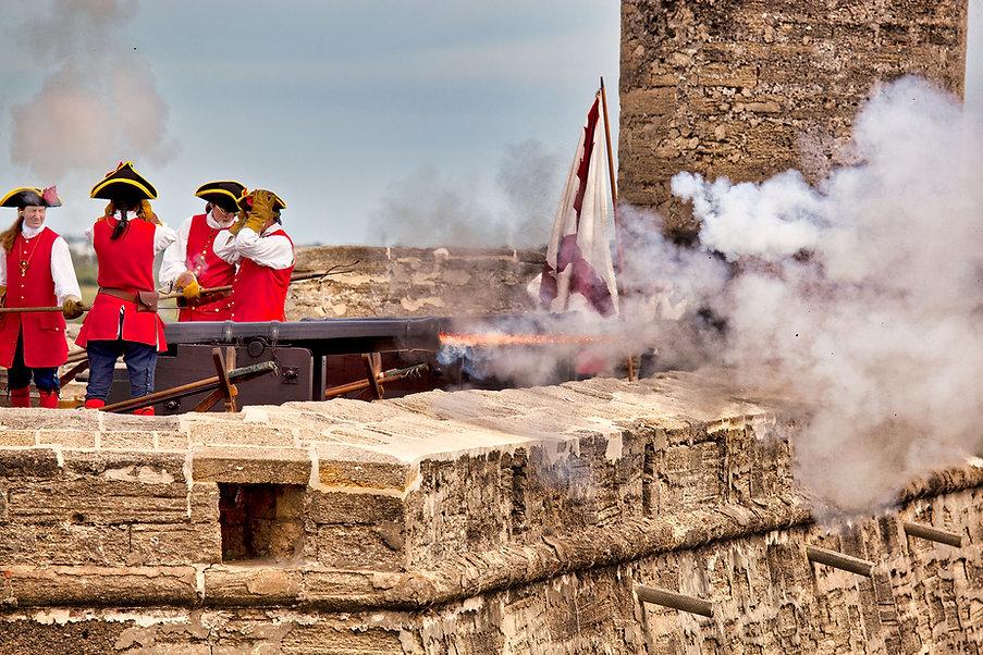 St. Augustine - Castillo de San Marcos historische Schießvorführung