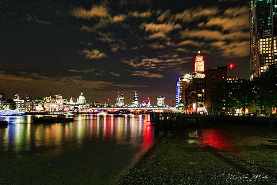 Nachtaufnahme London Southbank