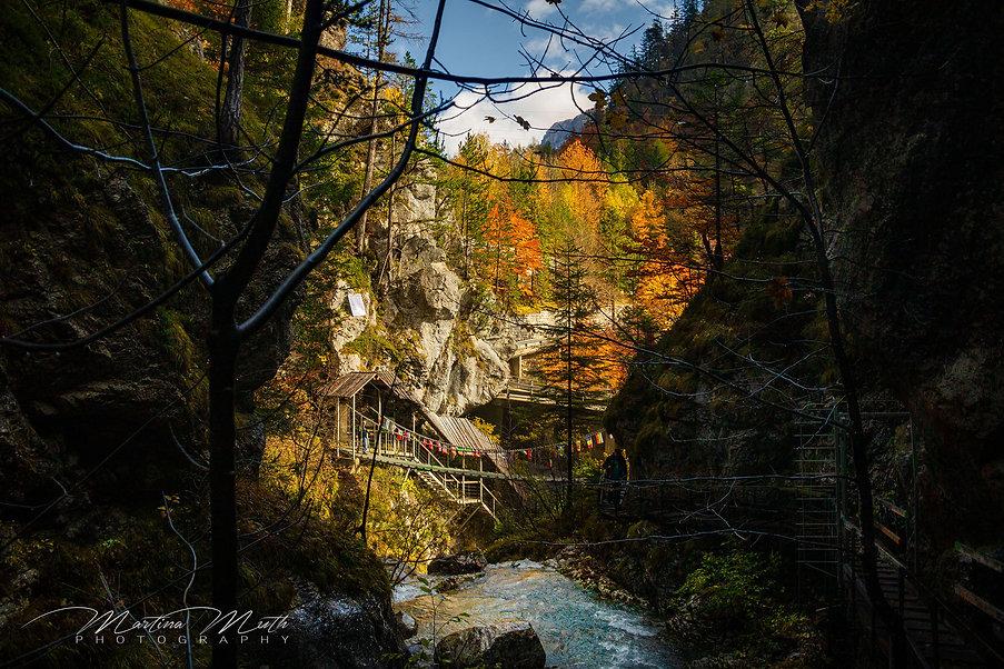 Die Teufelsbrücke markiert das Ende der Tscheppaschlucht.
