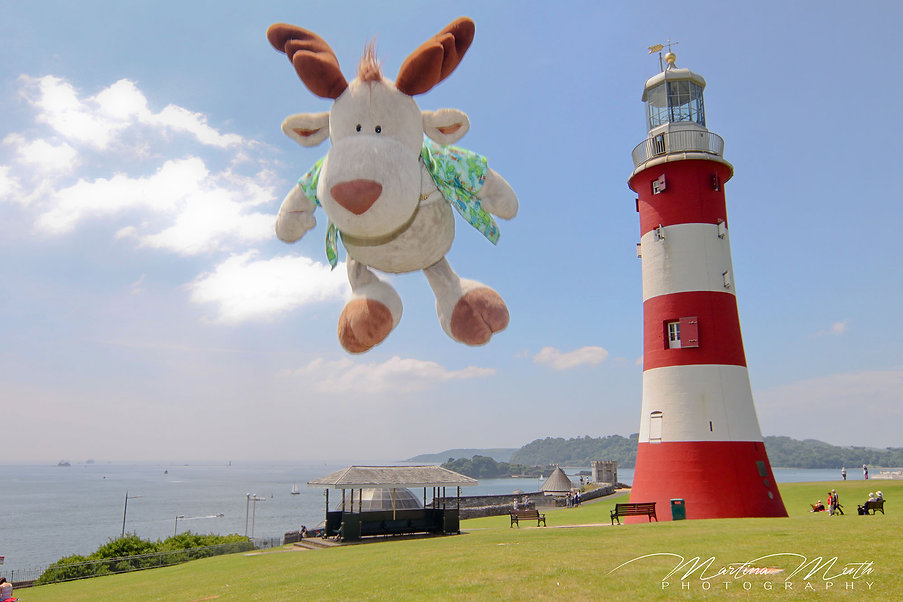Plymouth The Hoe Smeaton's Tower Flying Nikki