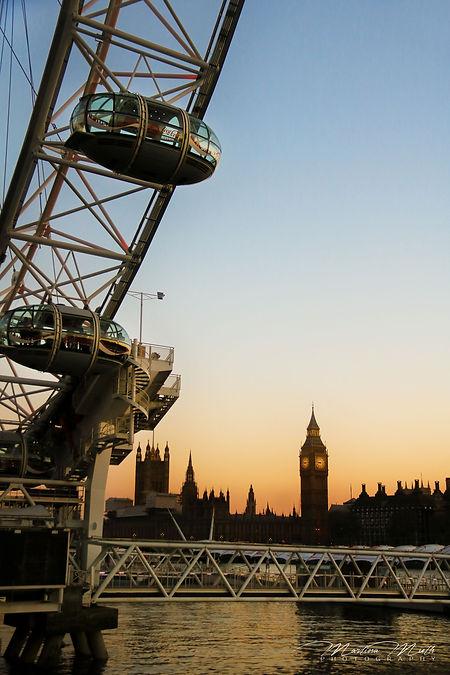 London Eye und Houses Of Parliament mit Big Ben