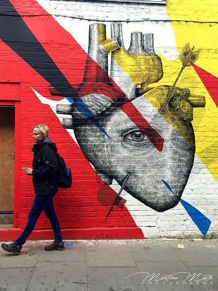 Graffitis beim Health Market