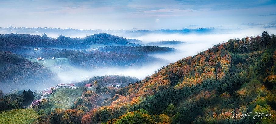 Morgennebel Südsteiermark
