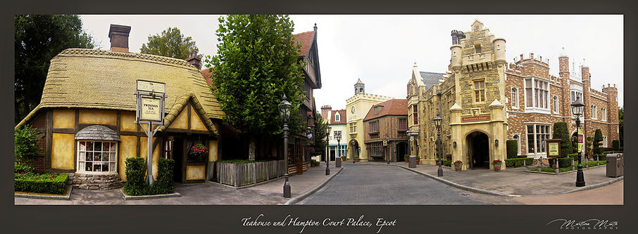 EPCOT Teahouse and Hampton Court Palace