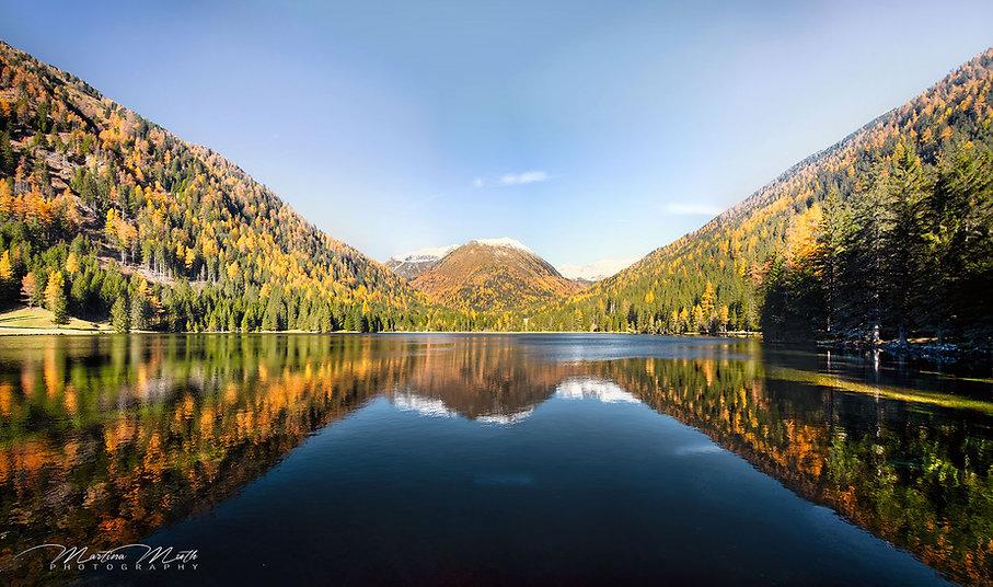 die perfekte Spiegelung am Etrachsee